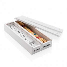 Deluxe Mikado/Domino Set in Holzbox